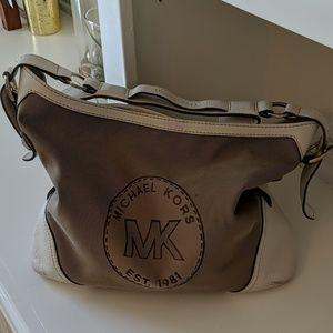 Vintage Micheal Kors Est. 1981 Canvas Leather  Bag